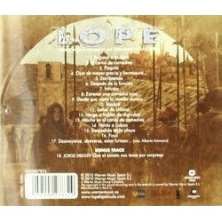 Lope Soundtrack (Fernando Velázquez) - CD Back cover