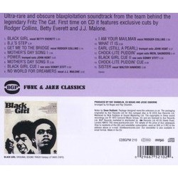 Black Girl Soundtrack (Various Artists, Ed Bogas, Ray Shanklin) - CD Back cover