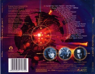 Treasure Planet Soundtrack (James Newton Howard) - CD Achterzijde