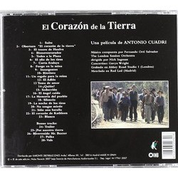 El Corazon de la Tierra Soundtrack (Fernando Ortí Salvador) - CD Back cover