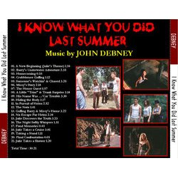 I Know What You Did Last Summer Soundtrack (John Debney) - cd-carátula