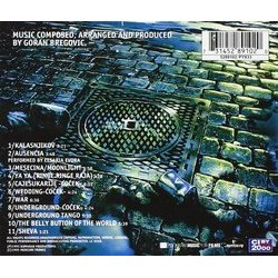 Underground Soundtrack (Goran Bregovic) - CD Back cover