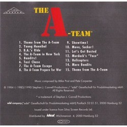 The A-Team Soundtrack (Pete Carpenter, Mike Post) - CD Trasero