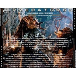 Predators Soundtrack (John Debney, Alan Silvestri) - CD-Rückdeckel