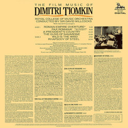 The Film Music of Dimitri Tiomkin 声带 (Dimitri Tiomkin) - CD后盖