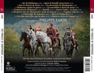 The Princess of Montpensier Soundtrack (Philippe Sarde) - CD Trasero