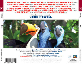 Rio Soundtrack (John Powell) - CD Achterzijde