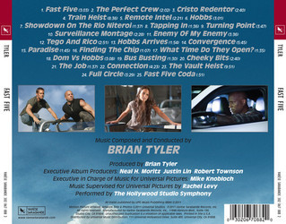 Fast Five Soundtrack (Brian Tyler) - CD Back cover