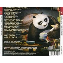 Kung Fu Panda 2 Soundtrack (John Powell, Hans Zimmer) - CD Back cover