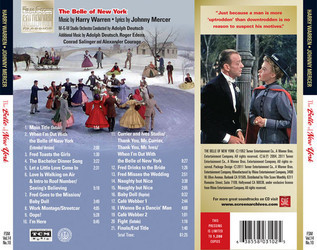 The Belle of New York Soundtrack (Fred Astaire, Anita Ellis, Johnny Mercer, Harry Warren) - CD Achterzijde