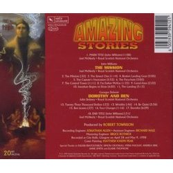 Amazing Stories Soundtrack (Georges Delerue, John Williams) - CD Back cover