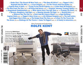 Mr. Popper's Penguins Soundtrack (Rolfe Kent) - CD Trasero