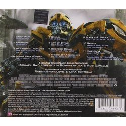 Transformers: Dark of the Moon 聲帶 (Various Artists) - CD後蓋