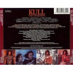 Kull the Conqueror Soundtrack (Joel Goldsmith) - CD Back cover