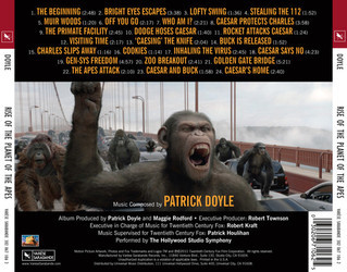 Rise of the Planet of the Apes Soundtrack (Patrick Doyle) - CD Trasero
