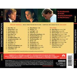 Indecent Proposal Soundtrack (John Barry) - CD Achterzijde