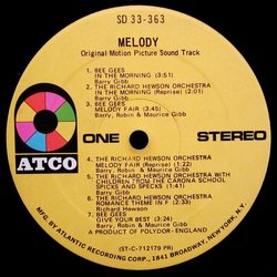 Melody 声带 (Various Artists, The Bee Gees, Richard Hewson) - CD-镶嵌