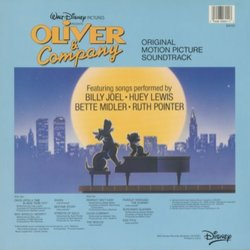 Oliver & Company Soundtrack (Various Artists, J.A.C. Redford) - CD Back cover