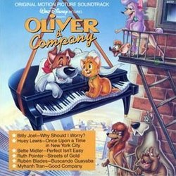 Oliver & Company Soundtrack (Various Artists, J.A.C. Redford) - CD cover