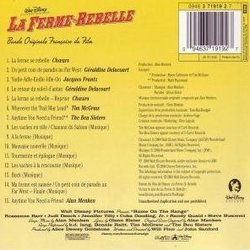 La Ferme se Rebelle 声带 (Various Artists, Alan Menken, Glenn Slater) - CD后盖