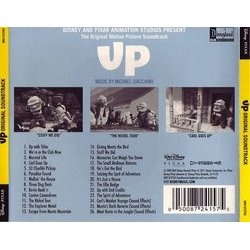 Up Soundtrack (Michael Giacchino) - CD Trasero