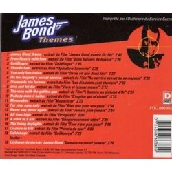 James Bond Themes Μουσική υπόκρουση (Various Artists, John Barry, Bill Conti, Marvin Hamlisch) - CD πίσω κάλυμμα