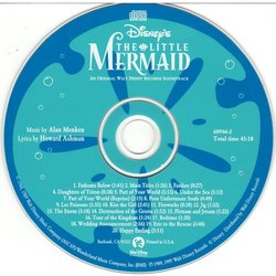 The Little Mermaid Μουσική υπόκρουση (Various Artists, Alan Menken) - cd-inlay