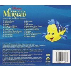 The Little Mermaid Soundtrack (Various Artists, Alan Menken) - CD Back cover