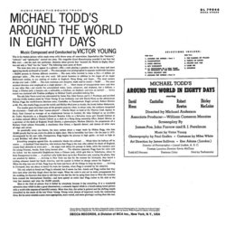 Around The World in 80 Days Soundtrack (Victor Young) - CD Back cover