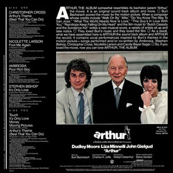 Arthur Soundtrack (Various Artists, Burt Bacharach) - CD-Rückdeckel