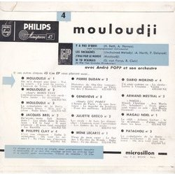 Mouloudji 4 Soundtrack (Mouloudji , Various Artists, Alex North, Georges Van Parys) - CD-Rückdeckel