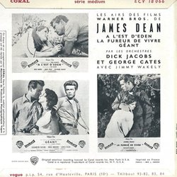 Les Airs des Films de James Dean 聲帶 (Various Artists, Dick Jacobs, Leonard Rosenman, Dimitri Tiomkin) - CD後蓋