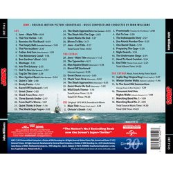 Jaws Soundtrack (John Williams) - CD Back cover