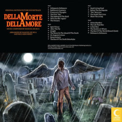 DellaMorte DellAmore Soundtrack (Riccardo Biseo, Manuel De Sica) - CD Back cover