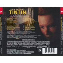 The Adventures of Tintin: The Secret of the Unicorn Soundtrack (John Williams) - CD Back cover