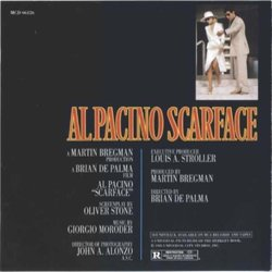 Scarface Soundtrack (Various Artists, Giorgio Moroder) - cd-inlay