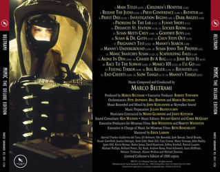 Mimic Soundtrack (Marco Beltrami) - CD Trasero