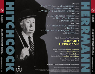 The Alfred Hitchcock Hour: Volume 2 Soundtrack (Bernard Herrmann) - CD Trasero