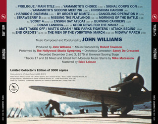 Midway Soundtrack (John Williams) - CD Trasero