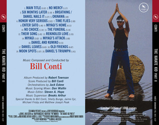 The Karate Kid: Part II Trilha sonora (Bill Conti) - CD capa traseira