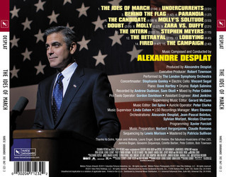 The Ides of March Soundtrack (Alexandre Desplat) - CD Trasero