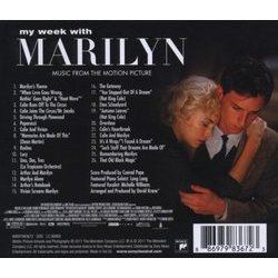 My Week With Marilyn Soundtrack (Alexandre Desplat, Conrad Pope) - CD Trasero