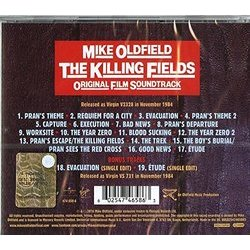 The Killing Fields Soundtrack (Mike Oldfield) - CD Back cover
