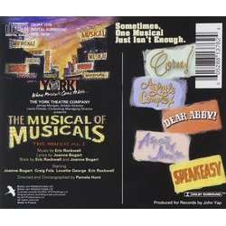 The Musical of Musicals, The Musical Soundtrack (Joanne Bogart, Eric Rockwell) - CD-Rückdeckel