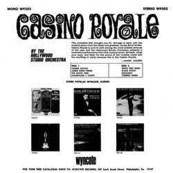Casino Royale サウンドトラック (Various Artists, Burt Bacharach, John Barry, The Hollywood Studio Orchestra) - CD裏表紙