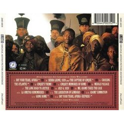 Amistad Soundtrack (John Williams) - CD Back cover