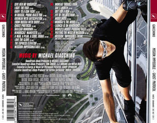 Mission: Impossible - Ghost Protocol Soundtrack (Michael Giacchino) - CD Trasero