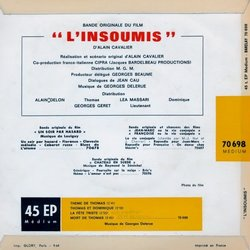 L'Insoumis Soundtrack (Georges Delerue) - CD Back cover