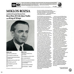 Miklos Rozsa Conducts His Great Themes Colonna sonora (Miklós Rózsa) - Copertina posteriore CD