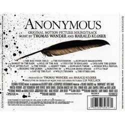 Anonymous Soundtrack (Harald Kloser, Thomas Wanker) - CD Trasero